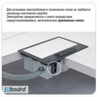 Напольный люк Simon SF 2x220. Фальшпол. IP40