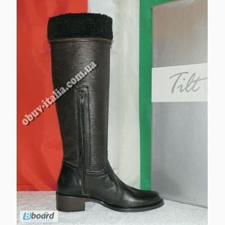 Сапоги женские кожаные фирмы Tilt производство Италия оригинал
