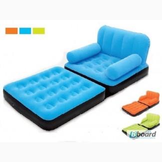 Надувное кресло трансформер (шезлонг) Bestway 193x102x64см