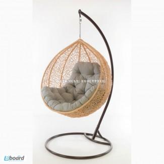 Подвесное кресло кокон из ротанга