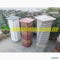 Наборной столб для забора ворот блок кирпич декоративный бетонный купить у производителя