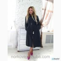 Шикарное пальто с норковой подкладкой