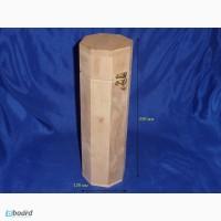 Деревянная упаковка для бутылки