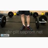 Напольное резиновое покрытие для тяжелой атлетики