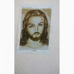 Лик Иисуса- картина вышивка бисером
