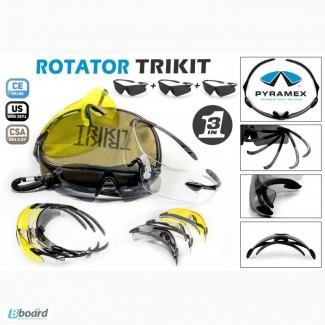 Защитные очки - набор из 3 очков вместо сменных линз ROTATOR TRIKIT