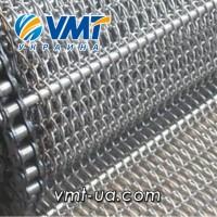 Сетка транспортерная плетеная, лента транспортерная металлическая, сетка подовая