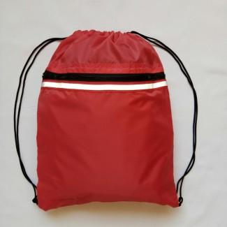 Рюкзак-мешок для обуви, формы красный