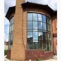 Монтаж остекления фасадов из алюминия марки Алютех (Беларусь)