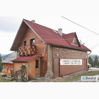1 Яблуница Приватний двоповерховий дерев#039;яний будинок з каміном на 8-10 місць