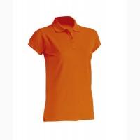 Женская футболка-поло оранжевый