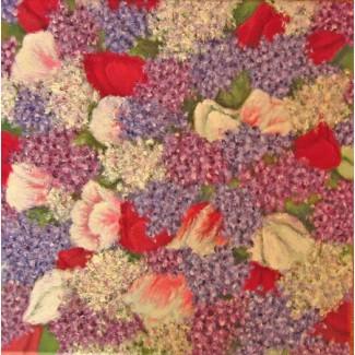 Картина масло холст Весенние цветы