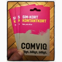 Шведские стартовые пакеты Comviq (Tele2)
