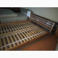 Деревянная кровать Франкфурт, двуспальная кровать, ліжко з дерева на ламелях