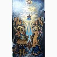 Икона большая храмовая Собор Архангела Михаила 1 м. 25 см. на 67 см