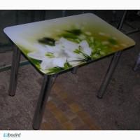 Стол обеденный стеклянный с фотопечатью! Остался один по акционной цене