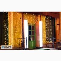 Гирлянда светодиодный дождь 2 на 1, 5 метра, новогоднее украшение домов