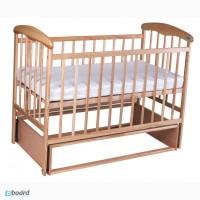 Кроватка Наталка с маятником (светлая)