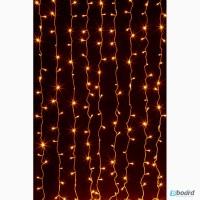 Светодиодный дождь 2x1, 5 метра, гирлянда светодиодная занавес