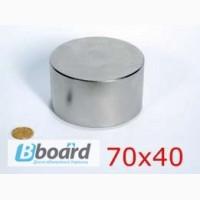 Неодимовый магнит D70 x H40 магнитная сила 200 кг