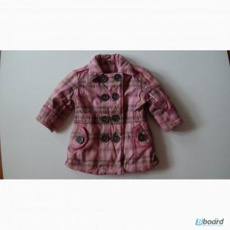 Пальто детское тёплое на молнии и пуговицах