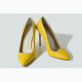 Лимонные туфли лодочки