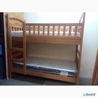 Новая двухъярусная детская кровать «Эко-Люкс-Ольха» (без нижних бортиков) + акция