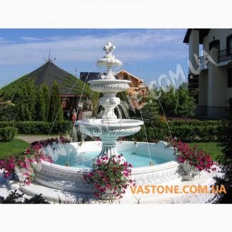 Фонтан с бассейном для дачи, сада, декоративный, бетонный парковый
