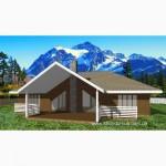 Каркасный канадский дом из сип панелей от застройщика Харьков Проект Шале