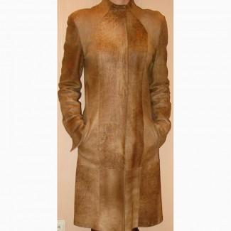 Демисезонное пальто. Натуральная кожа