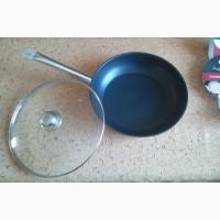 Экологичная сковорода 32 см. со стек. крышкой, индукционная на ПОДАРОК
