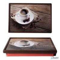 Удобные столики-подносы на подушке в деревянной рамке