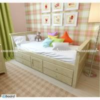 Детская кровать Медвежонок из натурального дерева