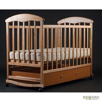 Кроватка с ящиком (светлая) Наталка