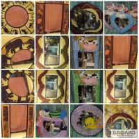 Декоративное зеркало настенное деревянное