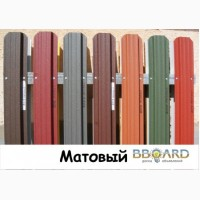 Штакетник металлический ширина 115мм для забора, 32 цвета