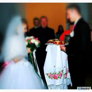 Свадебный рушник ПОД ХЛЕБ (каравай)