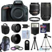 Nikon D5500 Цифровые зеркальные камеры + 4 объектива Комплект: 18-55 VR + 70-300 мм + 32GB