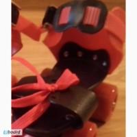Ролики раздвижныеквадровые детские Mini Roller, PU ( 16-20 см. ) Красный, Киев