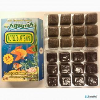 Замороженный корм для аквариумных рыб Мотыль + Артемия