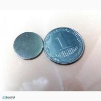 Супермагнит неодимовый 1 х 12 мм ранг N 50 NdFeB