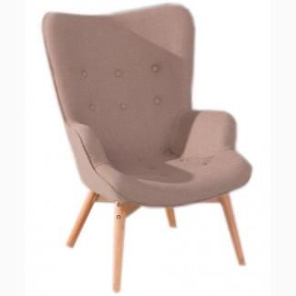 Кресло мягкое для отдыха Флорино, коричневое