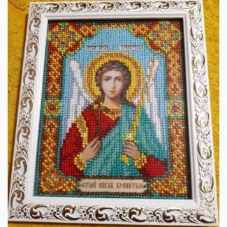Продаю икону Ангела Хранителя вышитую бисером