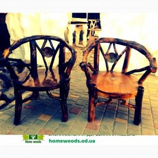 Деревянная мебель и веток и кореньев. Для дачи, кафе и ресторана