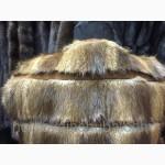 Эксклюзивная весенняя жилетка из меха хорька и замши