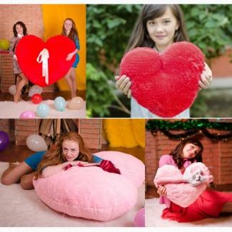 Мягкая плюшевая игрушка БОЛЬШОЕ СЕРДЦЕ - Отличный Подарок для Любимой