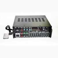 Усилитель звука UKC / MAX AV-326Bt, USB, Bluetoth КАРАОКЕ 4 микрофона