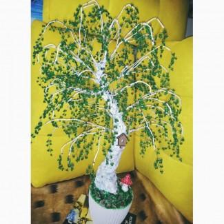 Дерево подарок. Бисерное дерево для интерьера