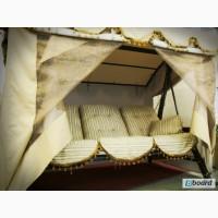 Деревянные качели Texas Lux, лучшее садовые качели в Украине