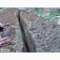 Копаем траншеи под газ, интернет, воду, свет Киев, киевская область